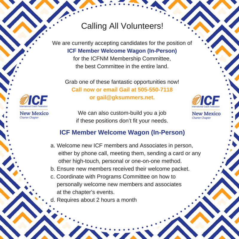 ICFNM Welcome Wagon In Person