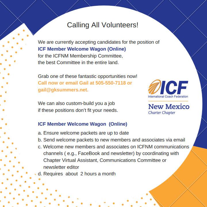 ICFNM Welcome Wagon Online