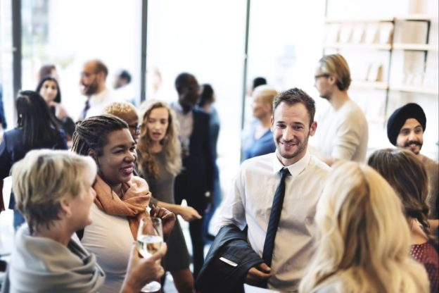 network with business people